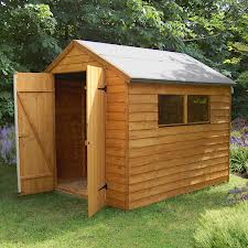 Wooden Shed for the garden with double doors and 4 windows