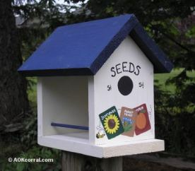 Birdfeeder for the garden can be decorated in anyway you prefer